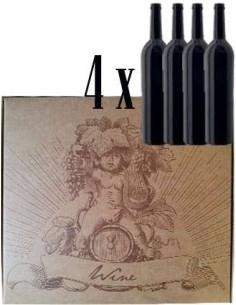 Confezione Regalo da 4 Bottiglie per Vino Spumante o Champagne