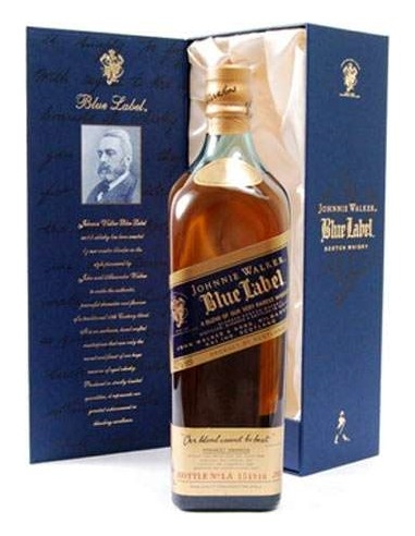 Whisky Blue Label Johnnie Walker oltre 25 anni Astucciato