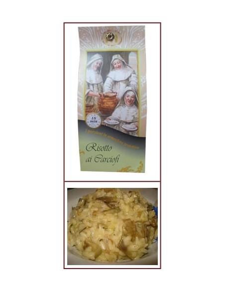 Risotto pronto ai carciofi Riseria delle Abbadesse 250 g.