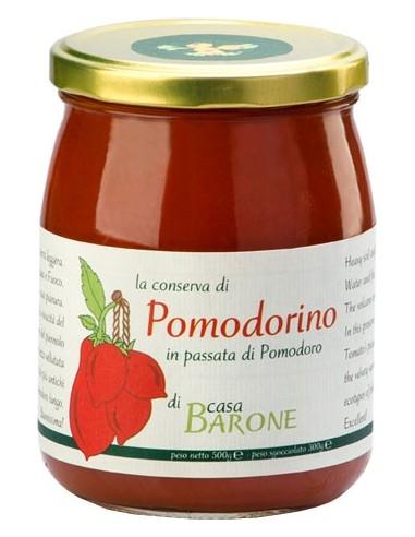Conserva di Pomodorino in passata di pomodoro Casa Barone 520 g.