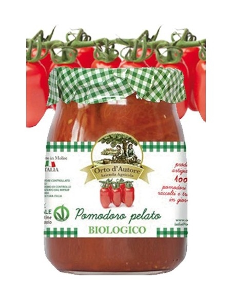 Pomodori Pelati biologici Orto d'autore 550 g.
