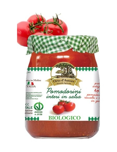 Biological Cherry tomatoes in tomato sauce Orto d'Autore