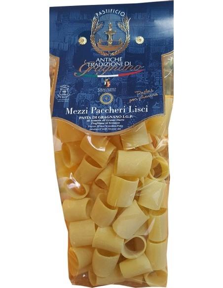 Mezzi Paccheri pasta di Gragnano artigianale IGP 500 g.