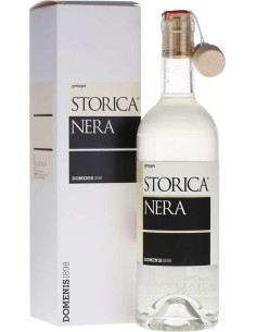 Grappa Storica nera 50 cl Domenis with Case