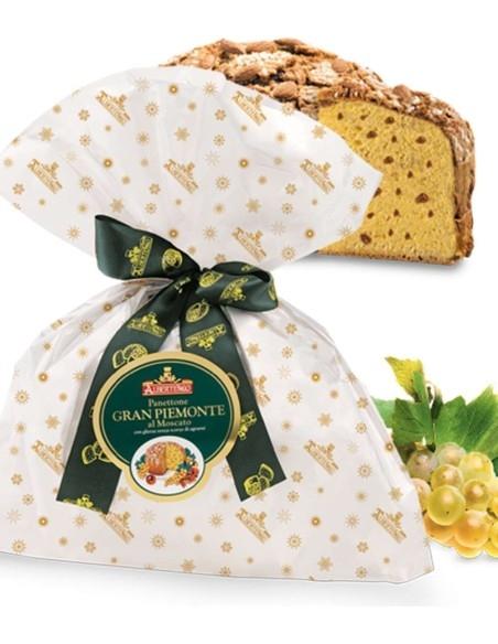 """Panettone Artigianale Gran Piemonte """"Ciuffo"""" Albertengo Moscato 1 Kg."""