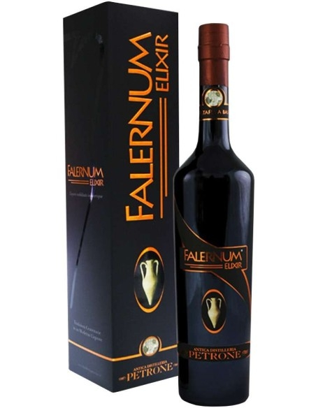Falernum Elixir Ancient Distillery Petrone Liquor glazed in barriques with Case