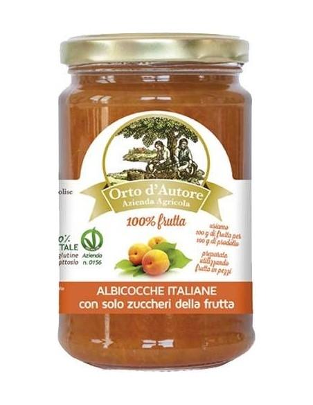 Jam 100% fruit Apricots Italian Orto d'Autore