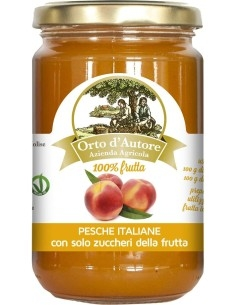 Jam 100% fruit Peaches Italian Orto d'Autore