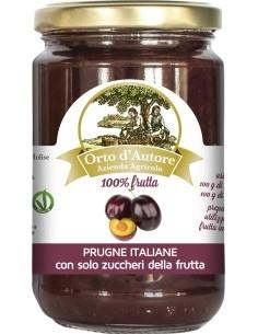 Jam 100% fruit Plums Italian Orto d'Autore