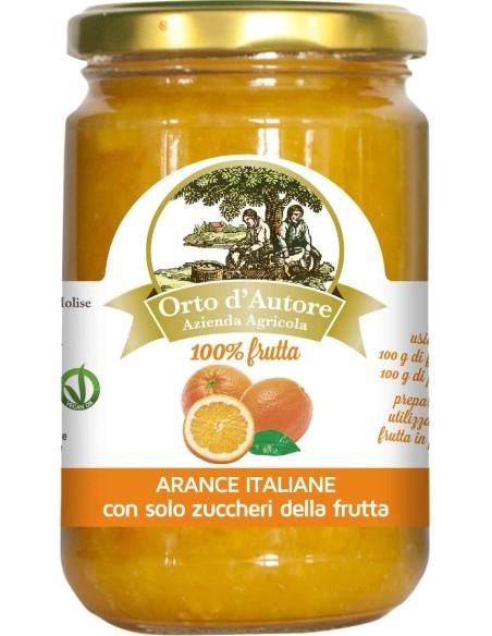 Jam 100% fruit Oranges Italian Orto d'Autore
