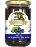 Jam 100% fruit Blueberries Italian Orto d'Autore
