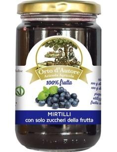 Jam 100% fruit Blueberries Italian Orto d'Autore