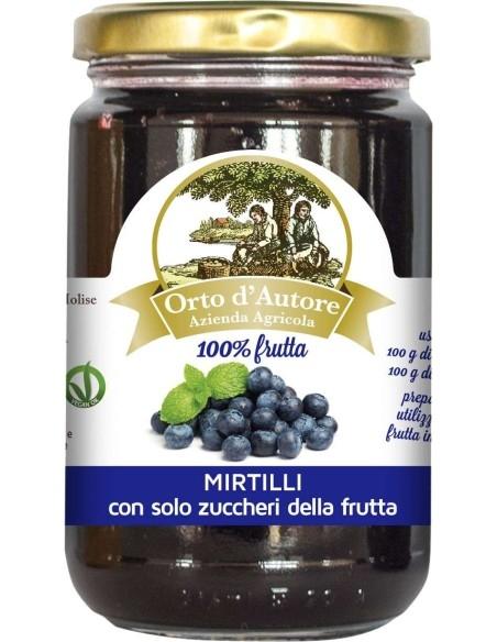 Preparato 100% frutta Mirtilli Italiani Orto d'Autore