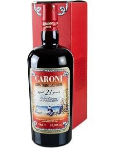 Rum Caroni aged 21 years 100% Trinidad Extra Strong con Astuccio