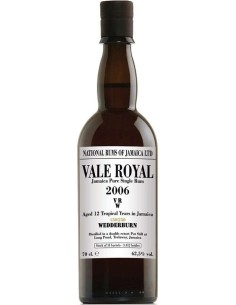Vale Royal 2006 Jamaica Pure Single Rum  VRW Long Pond Distillery