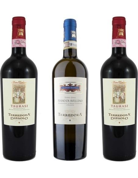 Terredora Set: 2 Bottles Taurasi Fatica Contadina + 1 Bottle of Fiano di Avellino