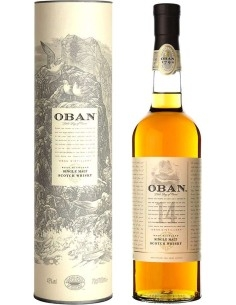 Oban Single Malt 14 years Scotch Whisky with case