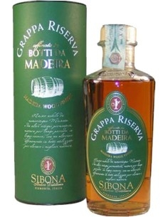 Grappa Sibona Riserva refined in barrels from Madeira with Box