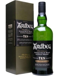 Ardbeg Ten Single Malt Scotch Whisky 10 years with case