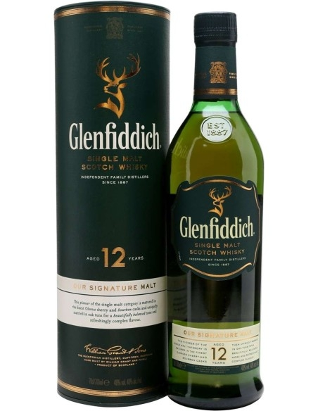 Glenfiddich Scotch Whisky 12 anni with case