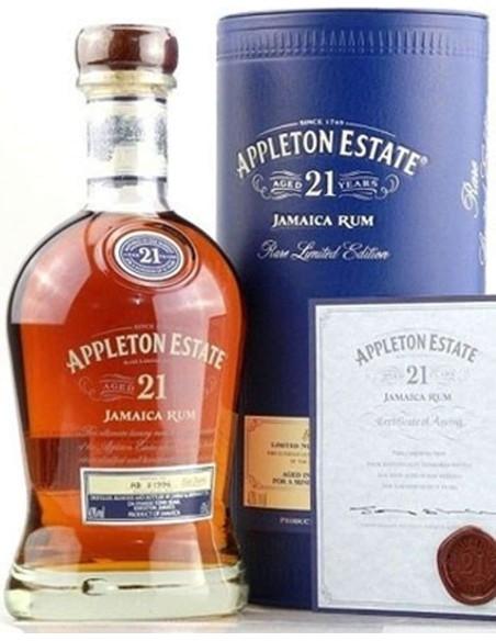 Appleton Estate 21 Jamaica Rum with case