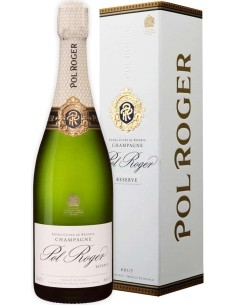 Champagne brut Réserve Pol Roger Capsula Bianca con astuccio