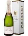 Champagne Pol Roger Brut Réserve white foil with case