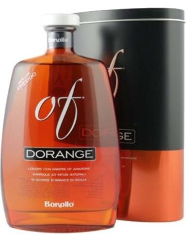 Dorange OF Liquore con grappa Amarone Bonollo con astuccio