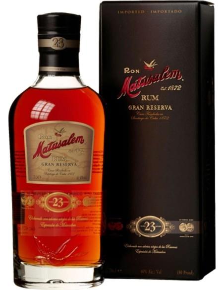 Rum Gran Reserva 23 years 1872 Ron Matusalem with case