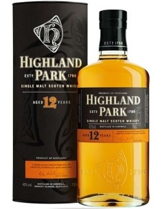 Single Malt Scotch Whisky 12 years old Highland Park 1798 with case