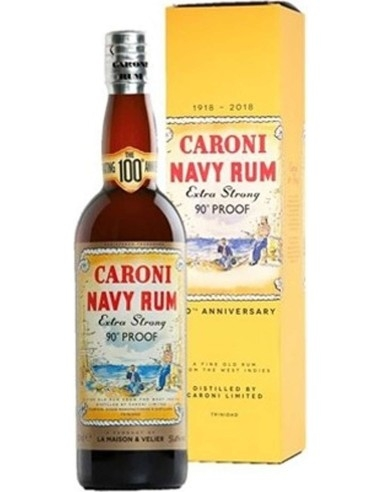 Caroni Navy Rum extra strong 90° PROOF 1918-2018 100th Anniversario